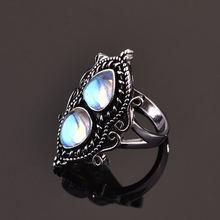 Винтажные Лунный камень кольцо s925 винтажные тайский серебряное