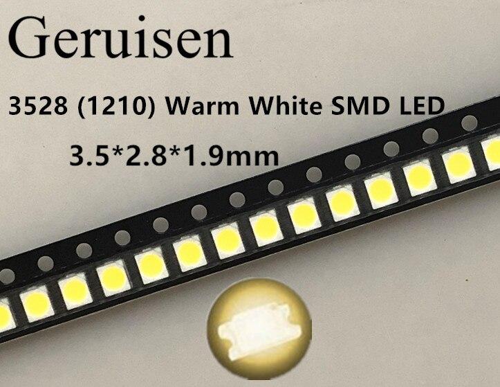 6 25 X Blanco Cálido 5050 SMD LED PLCC