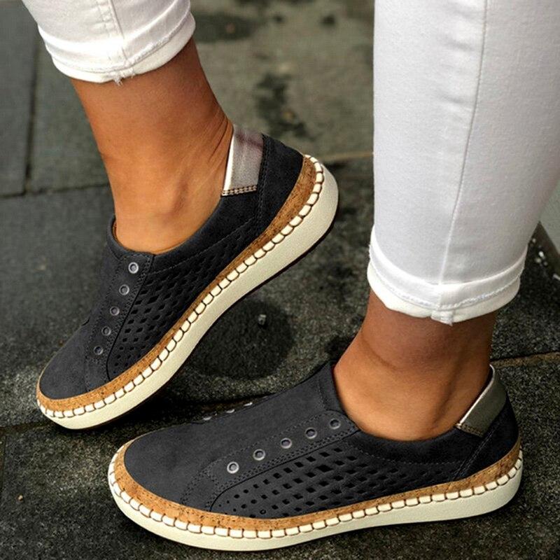 Экспресс-; женская обувь; повседневная обувь из вулканизированной кожи; кроссовки; женские удобные слипоны; лоферы на плоской подошве; zapatos mujer; Прямая поставка - Цвет: black 3