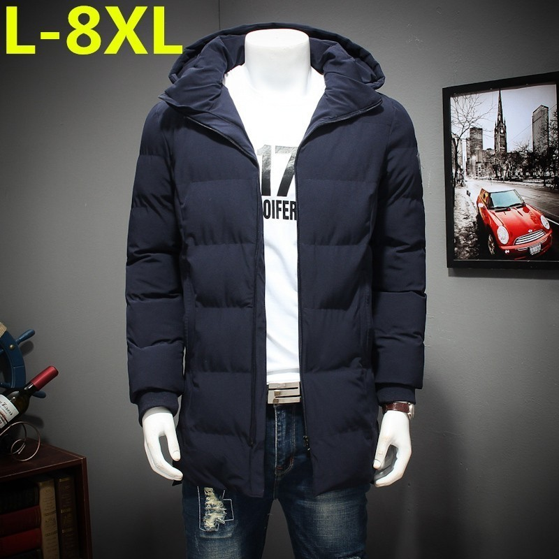 High Quality 8XL7XL Winter New Parkas For Jacket Hooded Brand Casual Men Warm Plus Size Cotton-padded Clothes Coat Free Shipping
