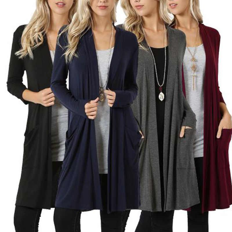 Goocheer 가을 니트 스웨터 긴 소매 캐주얼 가디건 여성 겨울 자켓 느슨한 큰 야드 긴 스웨터 코트 outwear