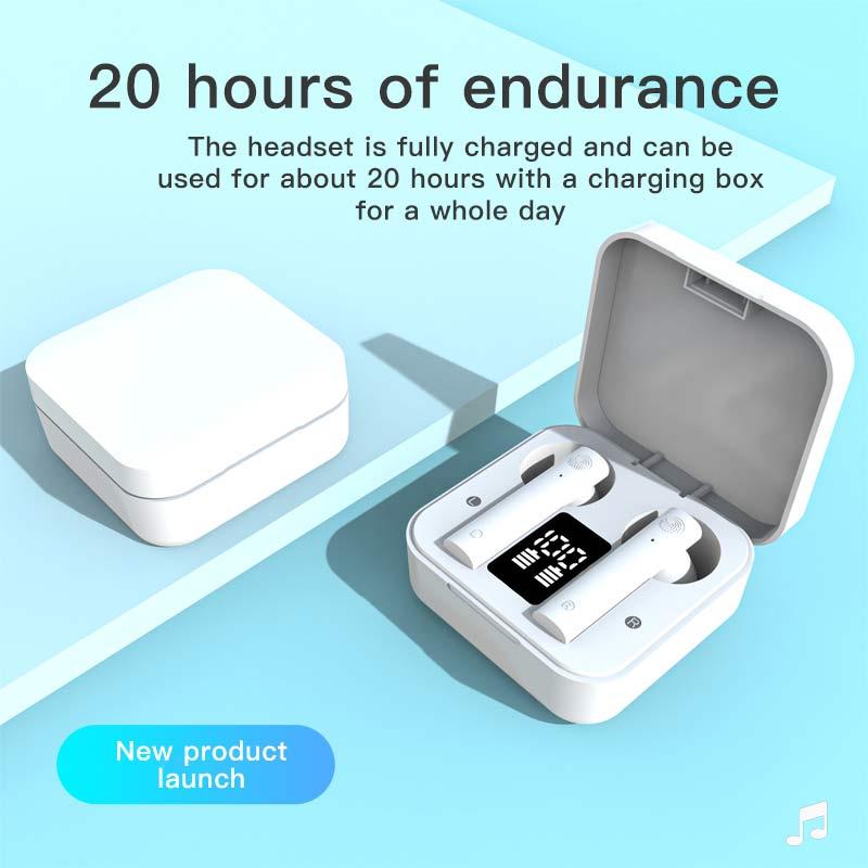 Беспроводные спортивные Bluetooth-наушники TWS с сенсорным управлением и двойным микрофоном