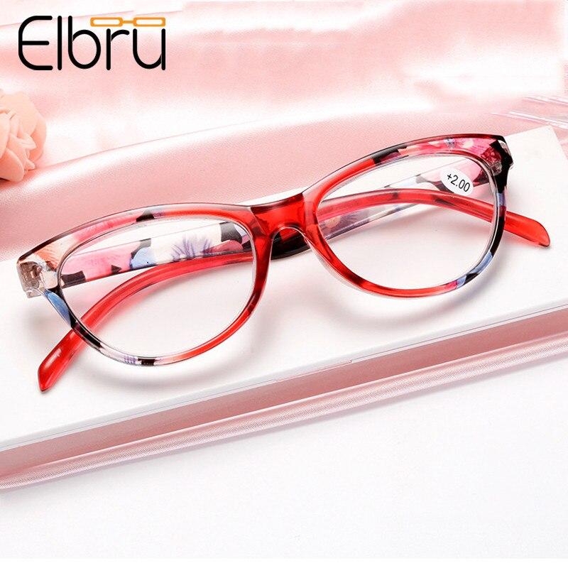 Elbru Cat Eye Reading Glasses Women Lightweight Presbyopic Reading Glasses 1.0 1.5 2.0 2.5 3.0 3.5 4.0 Presbyopia Eyewear