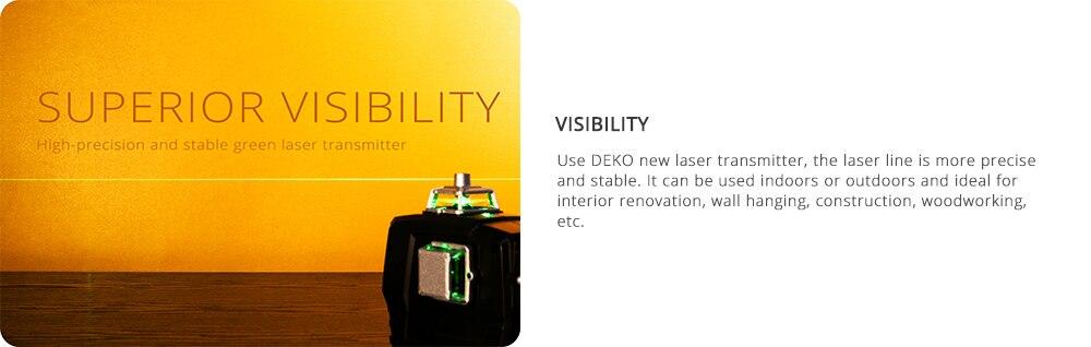 Superior Visibility DEKO Line Laser