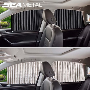 Car Curtain Side Window Shield Car Curtains With Sun Protection Windshield Interior Front Rear Auto Sunshade Covers Accessories