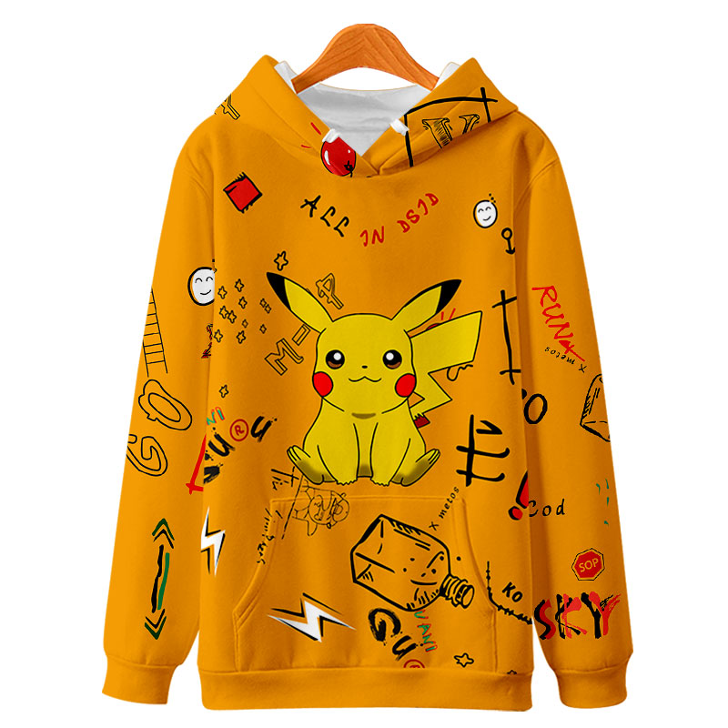 Pokemon Men Hoodies Harajuku 3D cute Leisure popular Customized Print Design Boy/Girl Anime 3D Hooded Sweatshirts Clothing Coats 2