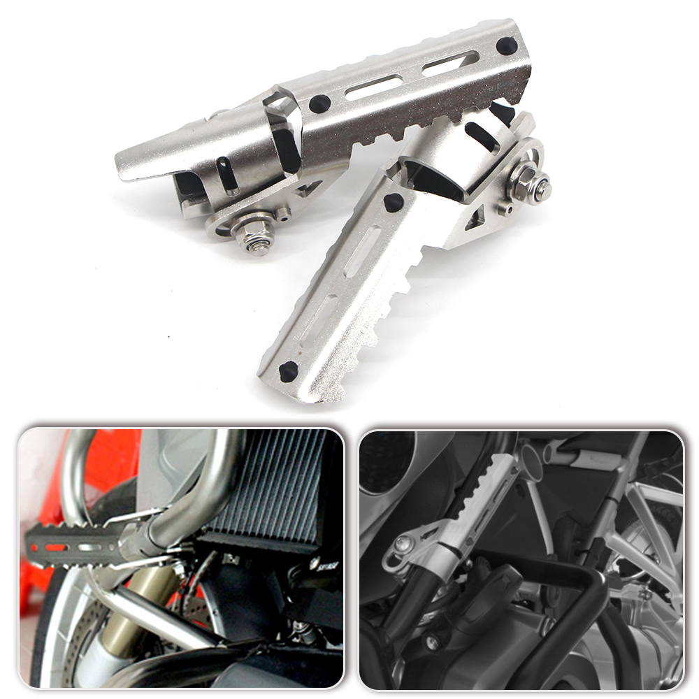 For BMW R1200GS R1200 GS R 1200 GS GSA ADV Adventure LC 2013-2019 Highway Front Footrest Foot Rest Pipes Pedals Pegs Foldable