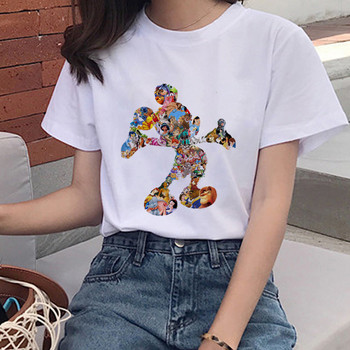 цена на Female T Shirt Punk Vintage Mouse Cartoon T-shirt Fashion O-Neck T-shirts Women Casual Harajuku Short Sleeve Shirt Summer Tops