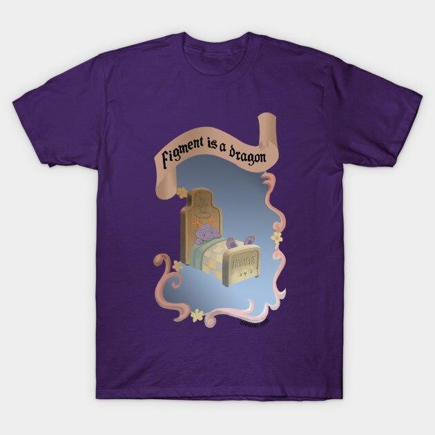 Men t-shirt Figment is a Dragon Epcot Journey Into Imagination tshirt Women t shirt(China)