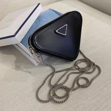 Lüks Braand tasarımcı çanta kadınlar için 2021 yeni moda üçgen şekli zincir çantalar ve çanta bayanlar moda çanta kanal
