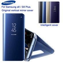 Orijinal Samsung ayna kapak temizle görünüm telefon kılıfı EF ZG955 Samsung Galaxy S8 G9500 S8 + S8Plus SM G955 Rouse ince flip Case