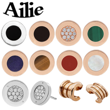 Ailie high quality fit Bulgaria S925 sterling silver earrings fashion jewelry spring round cake shape lady couples wedding gift diana high quality for bulgaria s925 sterling silver necklace rotating round cake shape brand design ladies fashion jewelry
