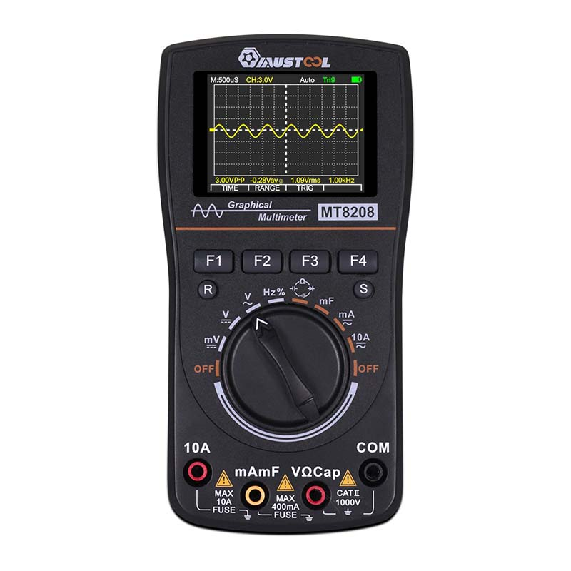 Test Digital Sampling In Electronic Upgraded Intelligent 2 HD Multimeter Oscilloscope MT8208 2 1 MUSTOOL Graphical Rate 5Msps