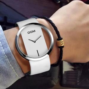 Image 5 - DOM marka İskelet İzle kadınlar lüks moda Casual kuvars saatler deri tuval bayan kadın kol saatleri kız elbise LP 205 1M