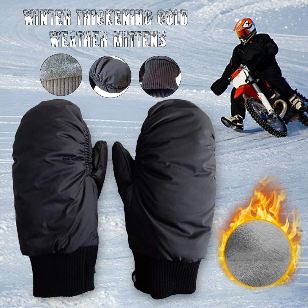 2-in-1 Mittens Ski Gloves Snowboard Men Women Snow Winter Sport Synthetic Insulation Warm Waterproof Windproof Skiing Fishing