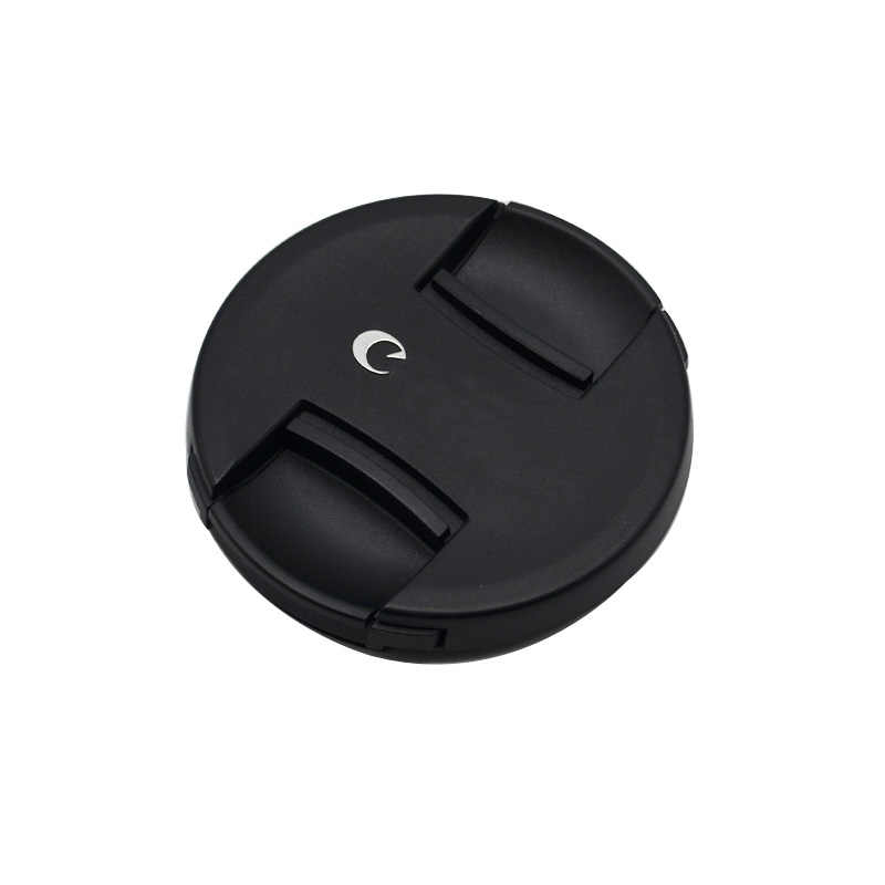 Alta calidad 49 52 55 58 62 67 72 77 82mm pellizco central Snap-on cap cover logo para lente de cámara canon