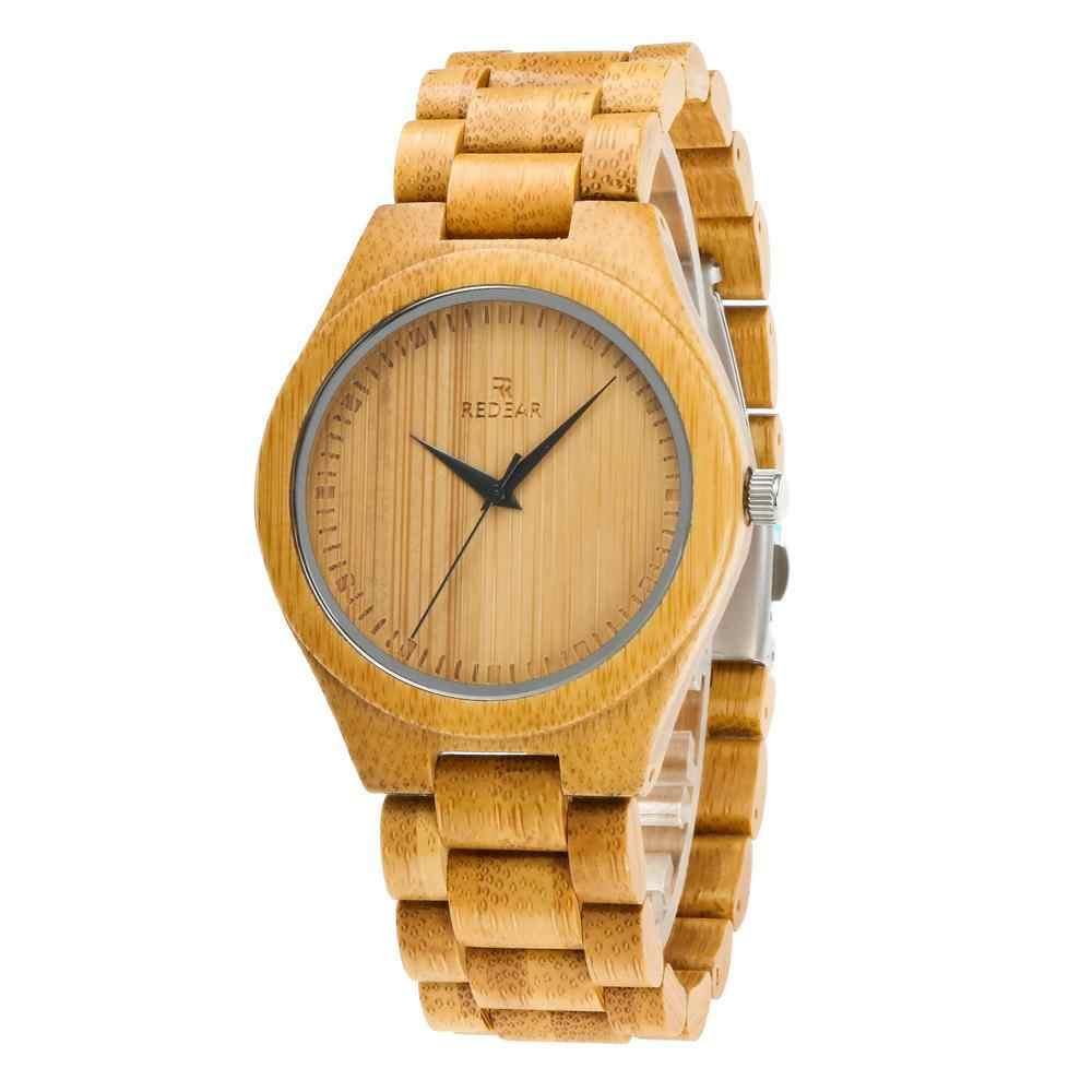 Reloj de bambú natural para hombre/mujer, reloj de pulsera Kono Taro, relojes para amantes del movimiento de cuarzo japonés, regalo creativo, reloj masculino