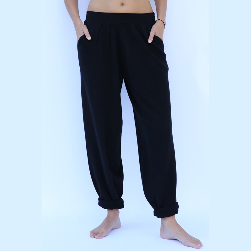 Adishree 2019 invierno cachemir pantalones y auntmun mujer suelto tejido Harem alta calidad caliente mujer elástico cintura media sólida