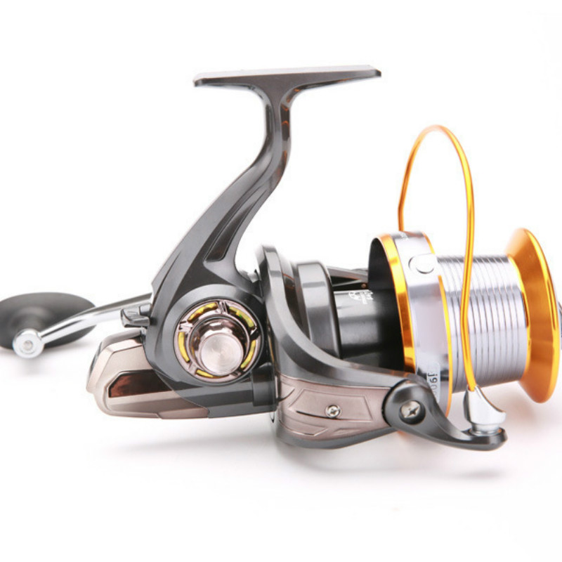 Reservoir Pond Pre-Loading Spinning Wheel LJ3000-9000 Type Fake Bait Round Squid Wheel Fishing Reel 5.2:1 Rotating Speed image