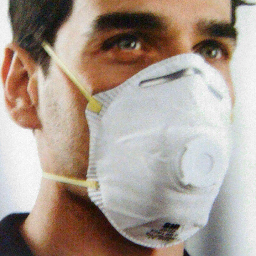 Most New Style Hot Disposable Upcast Face Mask 45152 Ffp1 Face Mask With Valve Headband.