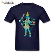 Unique T Shirt Men T-shirt Kali Print Tshirt Goddess Of Time Creation Destruction & Power Tops Tees Hindu Style Clothes Woman футболка print bar kali
