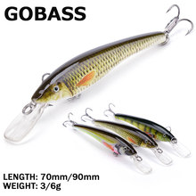 GOBASS Wobblers For Pike Perch Rattling Crankbait Fishing Lure Jerkbait Minnow Hard Artificial Bait For Fishing Tackle 90mm 70mm