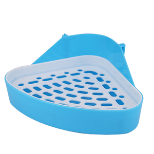 Durable Litter Tray Small Animal Portable Saves Space Rabbit Cleaning Supplies Corner Triangle Dog Pet Toilet Easy Clean Hamster(China)