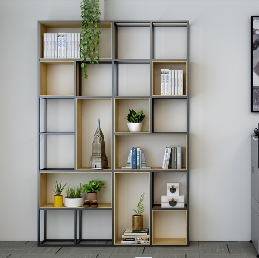 etagere de separation pour ecran de bureau bibliotheque de famille americaine simple et moderne etagere de rangement en bois massif