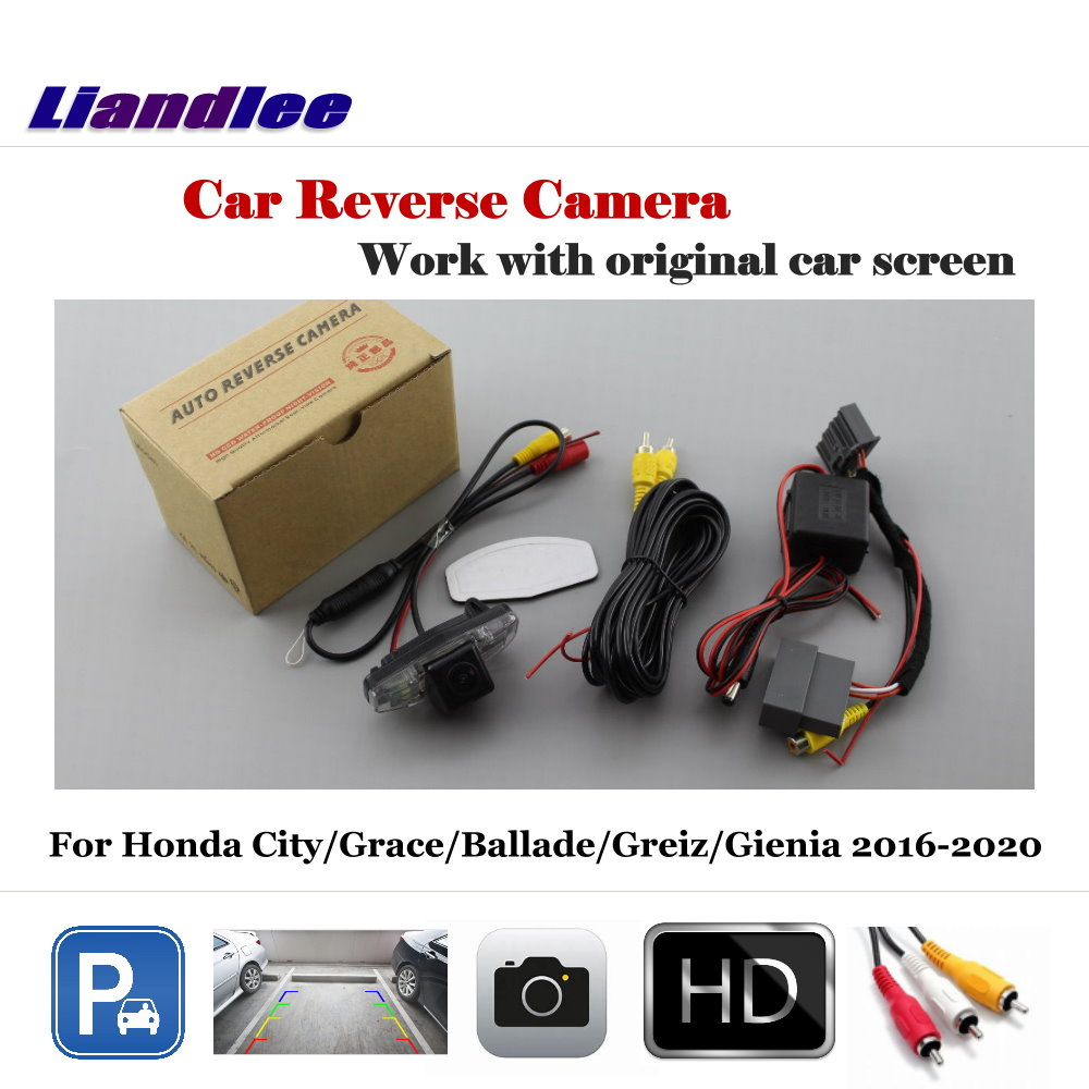 AUTO Vehicle Backup Cameras For Honda City/Grace/Ballade/Greiz/Gienia 2016-2020 Rear View Camera Car Accessories Alarm Systems