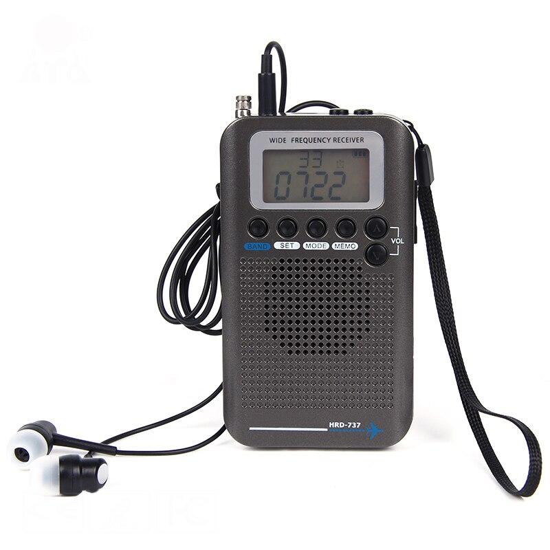 New Aircraft Band Radio Receiver VHF Portable Full Band Radio Recorder for AIR/FM/AM/CB/VHF/SW Radio