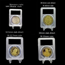 10 pieces 9.5mm~26.5mm Graded IDENTIFICATION COIN DISPLAY SLAB/slabs storage  CLEAR COIN SNABS/slabs clear color 10 pcs/lot