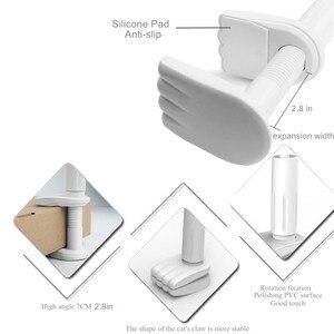 Image 5 - Telefon biurkowy stojak na Tablet 130cm uchwyt na Tablet regulowany uchwyt na Tablet 4.0 do 10.6 cal łóżko stojak pod PC lub tableta metalowy wspornik