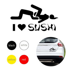 ICH Liebe Sushi Aufkleber Auto Fenster Lkw Tür Stoßstange Aufkleber PVC Lustige Drift Rally UND Verkauf
