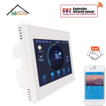 HESSWAY Three speed ventilator ndir co2 sensor detector wifi for Reduce carbon dioxide
