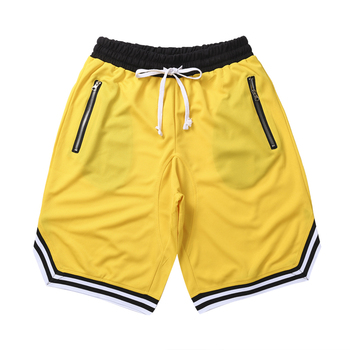 Men Gym Fitness Bodybuilding Short Pants Summer Thin Male Basketball Stripe Training Casual Shorts Running Sport Shorts Men Jogging Pants Men Sportswear Men Sportswear Men Swimwear Men Workout Shorts Running & Yoga Running Shorts Sporting Goods Sports & Entertainment Sports and Outdoor Color: Yellow Size: L