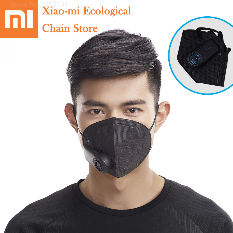 Xiaomi Purely Dust Masks Electric Respirator Mask With Breath Valve Anti Pollution Anti Fog Haze Face Mouth Masks Mouth Cover