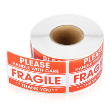 Fragile Warning Shipping Label 1 Roll/500Pcs 2*3 Inch Large Fragile Warning Sticker Handle With Care Keep Dry Express Label парогенератор tefal gv9563 pro express ultimate care