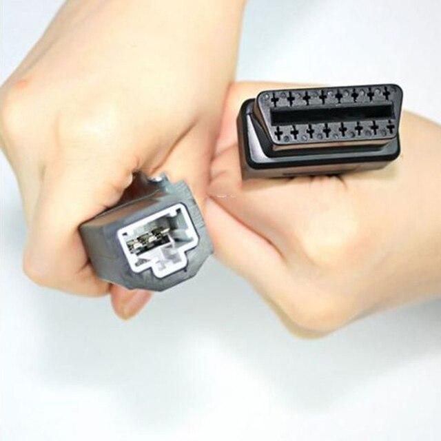 3 pçs/lote 3 a 16 pinos obd2 conectores automóveis obd ferramentas de diagnóstico cabos extensão para honda carros