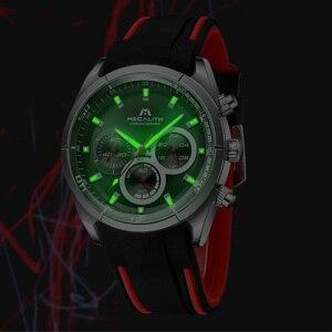 Image 3 - MEGALITH 2019 nowości zegarki dla mężczyzn Top marka luksusowe Casual Sport wodoodporny zegarek człowiek zegar chronograf wojskowy zegarki