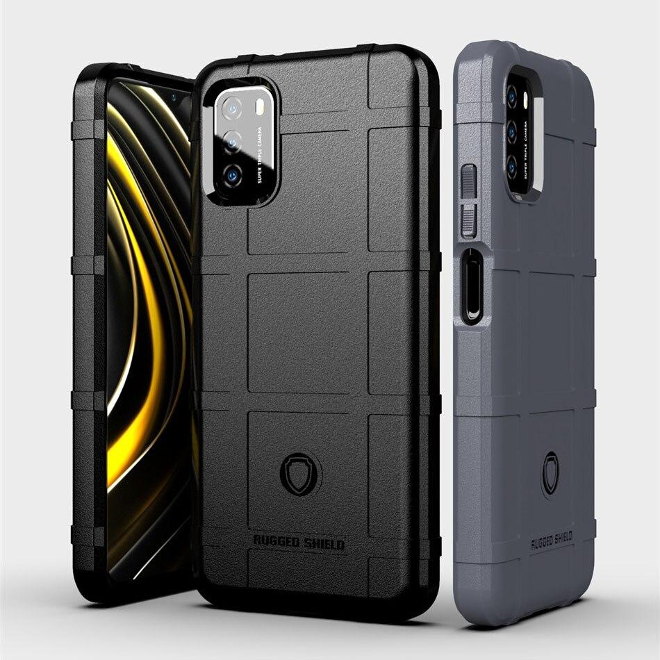 Прочный силиконовый чехол для Xiaomi Poco M3, чехол в стиле милитари, сверхпрочный защитный чехол для телефона Poco M 3, Чехол X3 NFC Mi 10T Pro