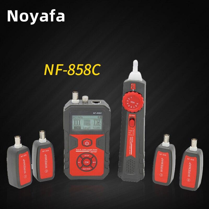 Оригинальный NOYAFA NF-858C ЖК-дисплей Кабельный тестер rj45 BNC Портативный для проверки витой пары, телефонной проводки POE тестирование сетевой каб...