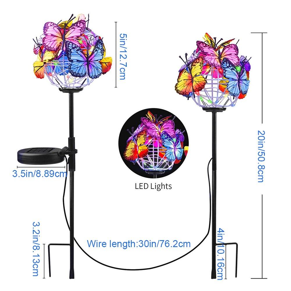 lampada jardim decorativo luzes estaca com 05