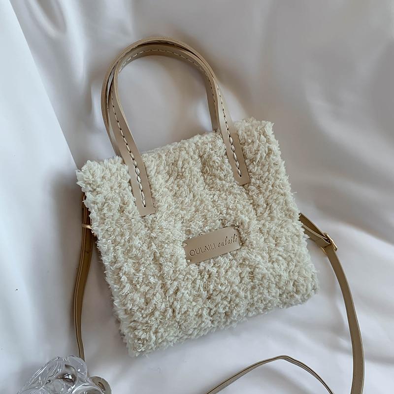 VeryMe Soft Plush Ladies Messenger Bag Winter High Quality Women Designer Handbags Fashion Female Shoulder Pack Sac A Main Femme