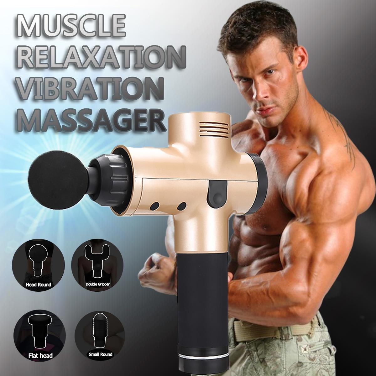 4000r/min thérapie pistolets de Massage 3 vitesses masseur musculaire douleur Sport Machine de Massage Relax corps minceur soulagement 4 têtes
