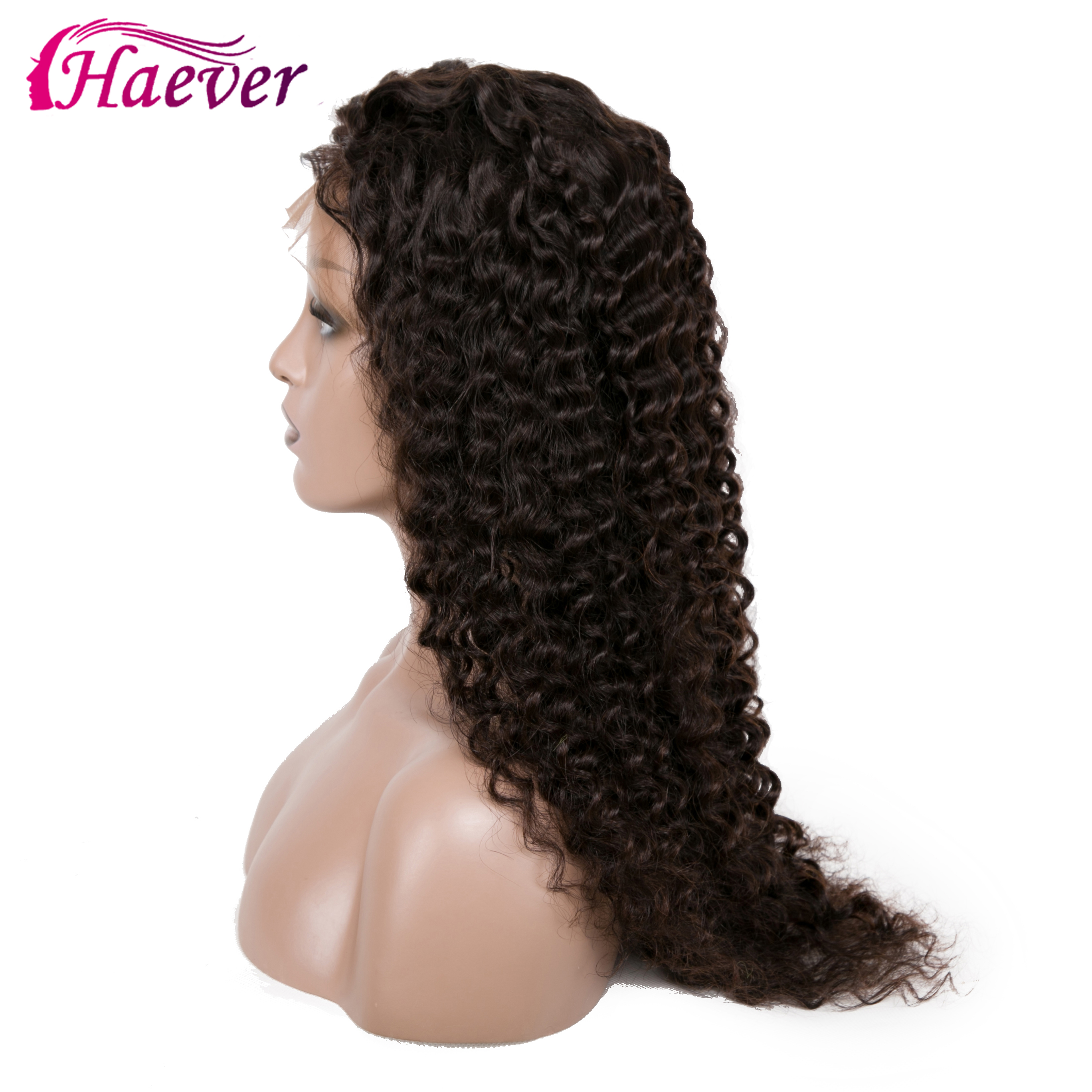 Haever Malaysian Deep Curly Human Hair Wig For Black Women 180 Density 13x4 Natural Hairline Remy Human Hair New Hair Lace Front