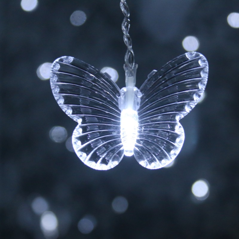 LED Butterfly Curtain Light Ices Strip Butterfly Pendant Light String Indoor Outdoor Decoration Colorful Christmas Wreath I88 #1