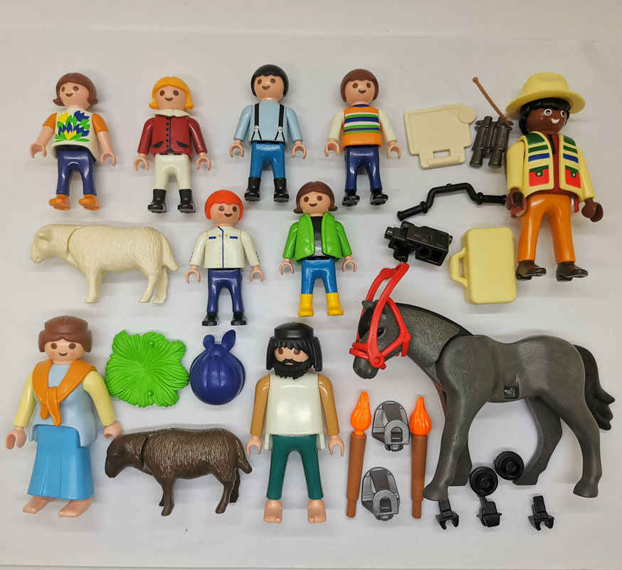 12PCS Playmobil Reporter Horse Child Animal loose Figure P1D