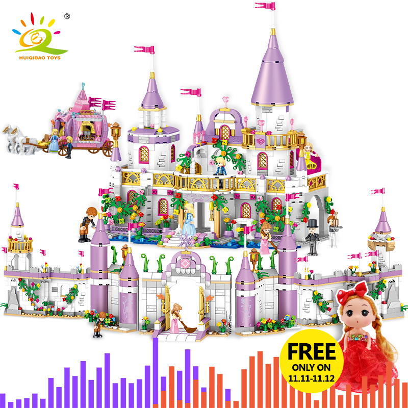 5 In 1 Princes Windsor Castle Model Building Blocks Compatible Legoingly Friend Carriage Figures Educational Toys For Girl Child