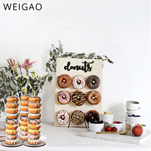цена на Wedding Decoration Donut Bar Decor Wooden Donut Stand Donught Wall Display Board Donut Party Children's Birthday Party Supplies