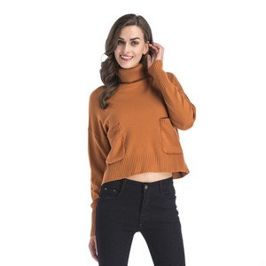 Image 3 - INSINBOBO Turtleneck solid Women Sweaters Pullovers Loose Knitted Autumn Winter Clothing Casual Pullovers